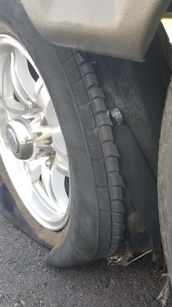 flat rv tire