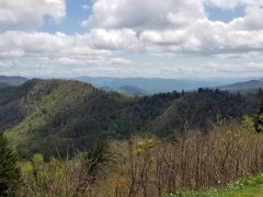 Great Smoky Mountains National Park view from Newfound Gap