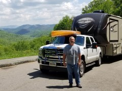 Brad Saum volunteering in Smokies