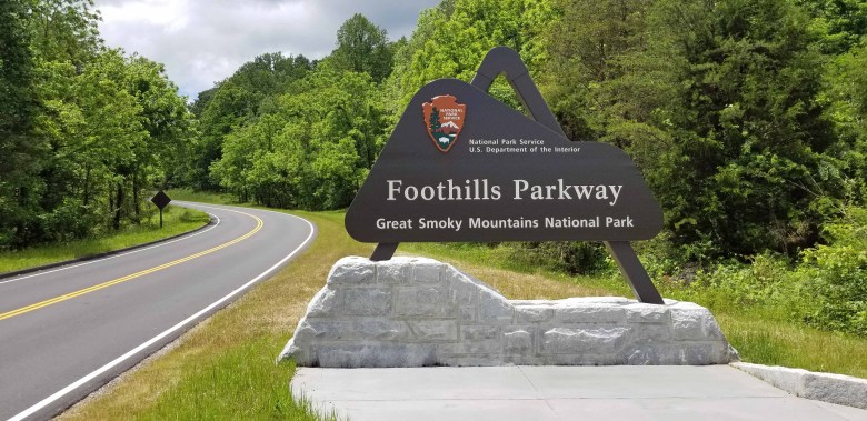 The Foothills Parkway is part of Great Smoky Mountains National Park.
