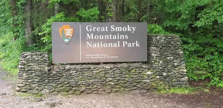Great Smoky Mountains National Park entrance sign