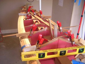clamps for cedar strip built kayak