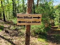 Social distancing and hiking