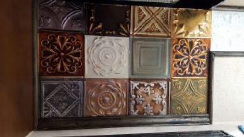 ceiling tile sample pack RV backsplash