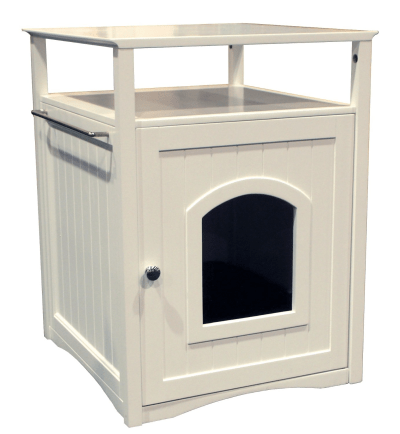 Cat Washroom-Nightstand Pet House - litter box storage idea for RVs, campers, motorhomes, or small apartments
