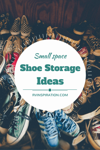 Small space shoe #storage ideas for your #RV, #camper, #traveltrailer, #motorhome, or #apartments