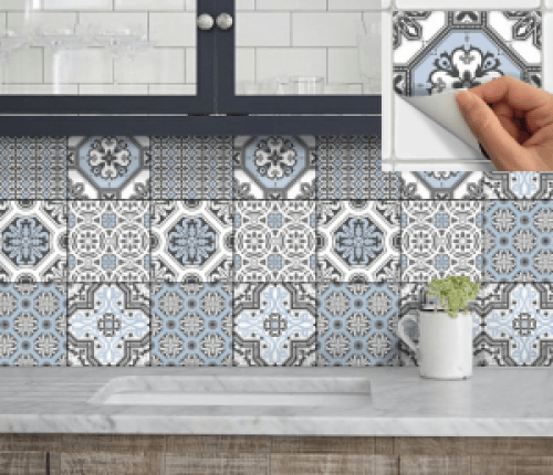 Spanish tile decals