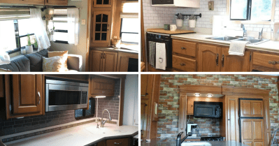 If painting, staining, or replacing your wood cabinets is out of the question, try one or a few of these ideas for a fresh look.