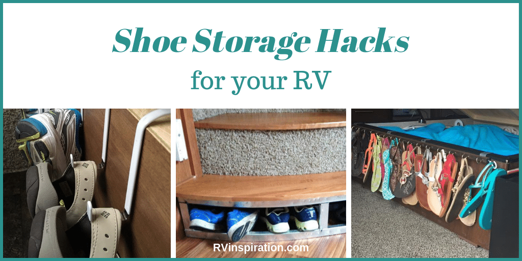 Hacks and mods to help you store and organize shoes in your camper or motorhome