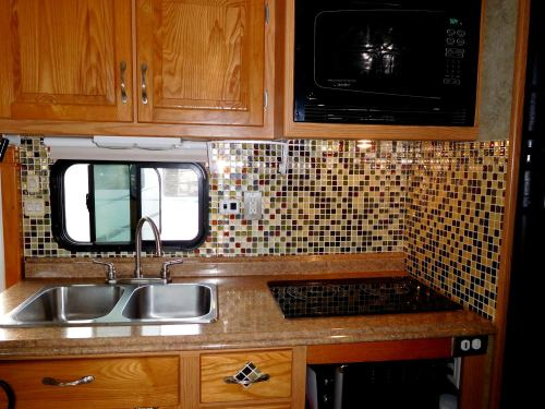 SmartTiles in RV kitchen