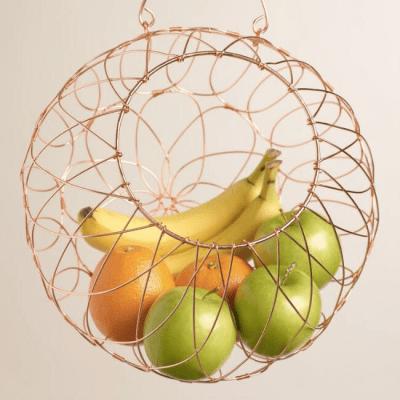 wire orb fruit basket