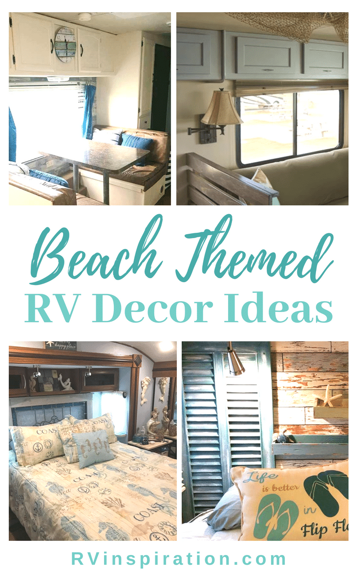 A camper with beach or ocean themed decor can make you feel like you're in a seaside cottage no matter where you are! Get ideas from these RV makeovers.