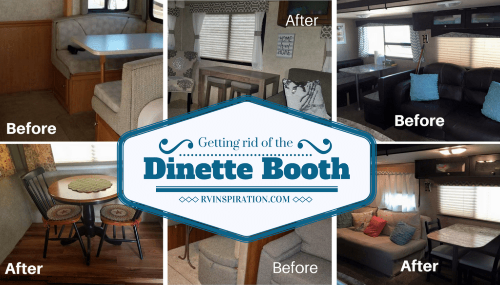 RV Owners Who Replaced Their Dining Booths | RVs, campers, travel trailers, and motorhomes without the dinette booth