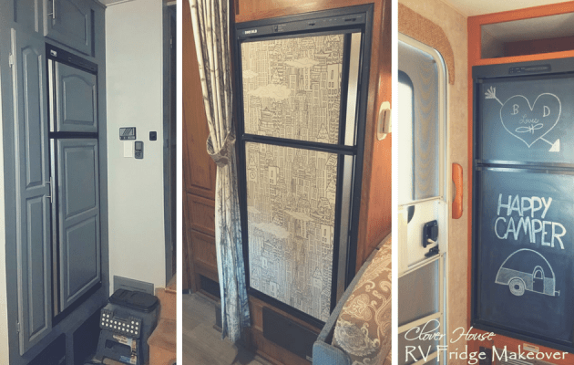 Ideas for giving a camper or motorhome refrigerator a DIY makeover