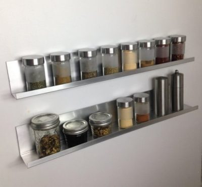 adhesive spice shelves