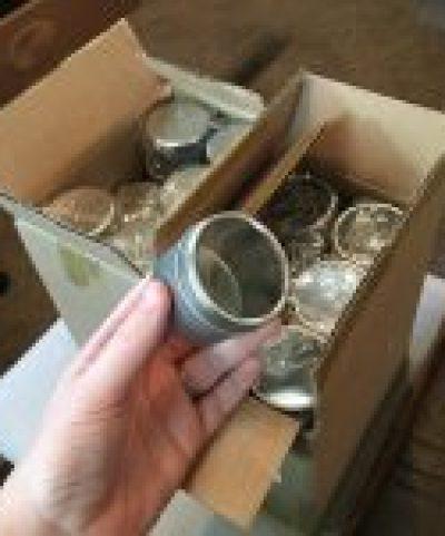 Metal spice tins