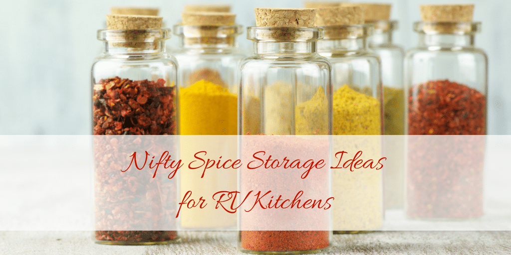 Spice storage ideas for tiny RV or small apartment kitchens