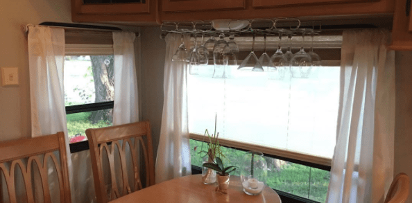 RV Window Makeover Ideas - DIY curtains, cornices, and more for motorhomes, campers, and travel trailers | RVinspiration.com