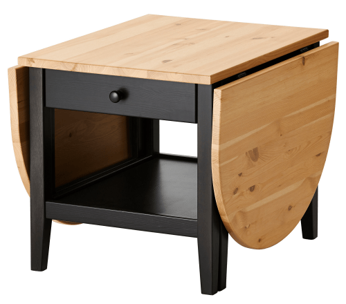 Drop leaf storage coffee table for motorhomes, campers, and travel trailers | RV furniture