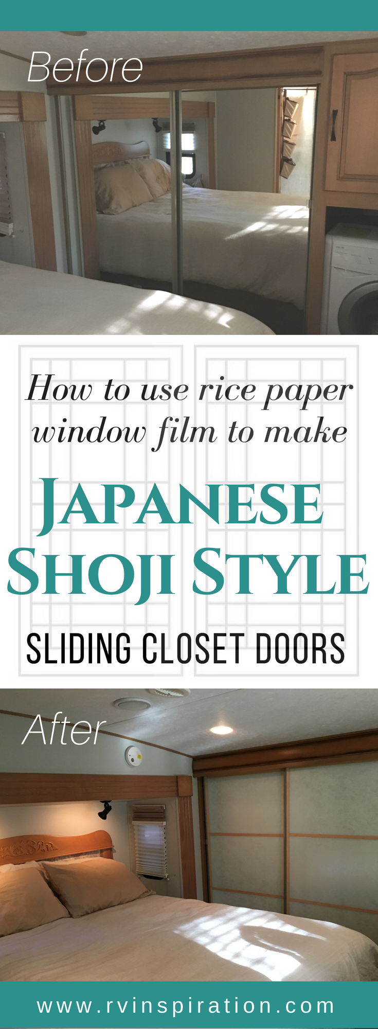 DIY Mirror Closet Makeover Idea: How To Turn Sliding Doors Into Japanese  Shoji Screens |