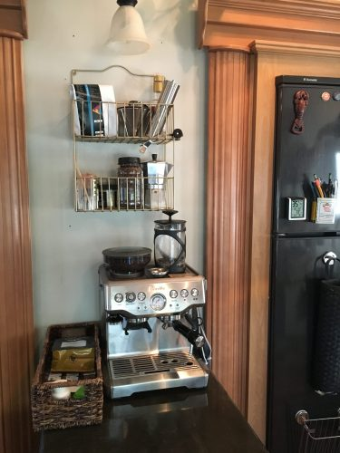 coffee station in our RV | RVinspiration.com