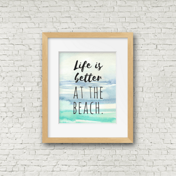 Better at the Beach Free Printable Wall Decor