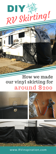 How We Made $200 DIY Vinyl RV Skirting for Winter Camping