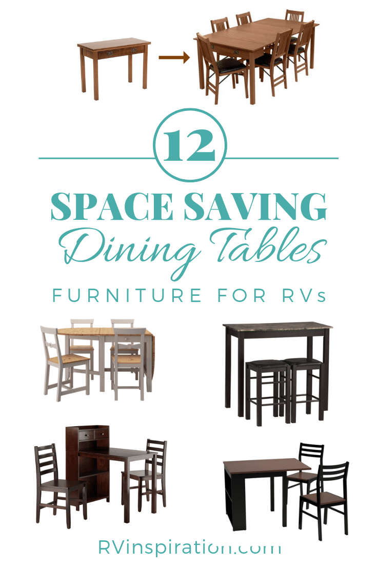 Dining Tables for RVs Pinterest Image