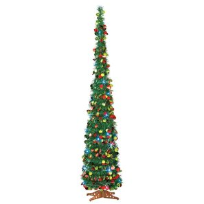 Green pull up Christmas tree from Amazon