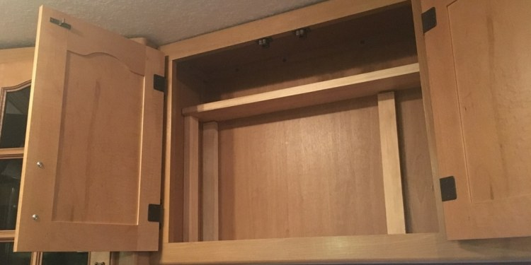 Diy Easy Way To Add A Shelf To An Rv Cabinet