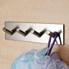 Adhesive hook for kitchen utensil storage, bathroom organization, jewelry, key storage, etc.
