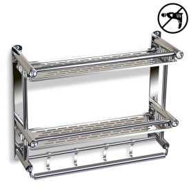 Kitchen or bathroom rack for storage and organization - spice storage, towel bar, utensil caddy, shower caddy, etc.