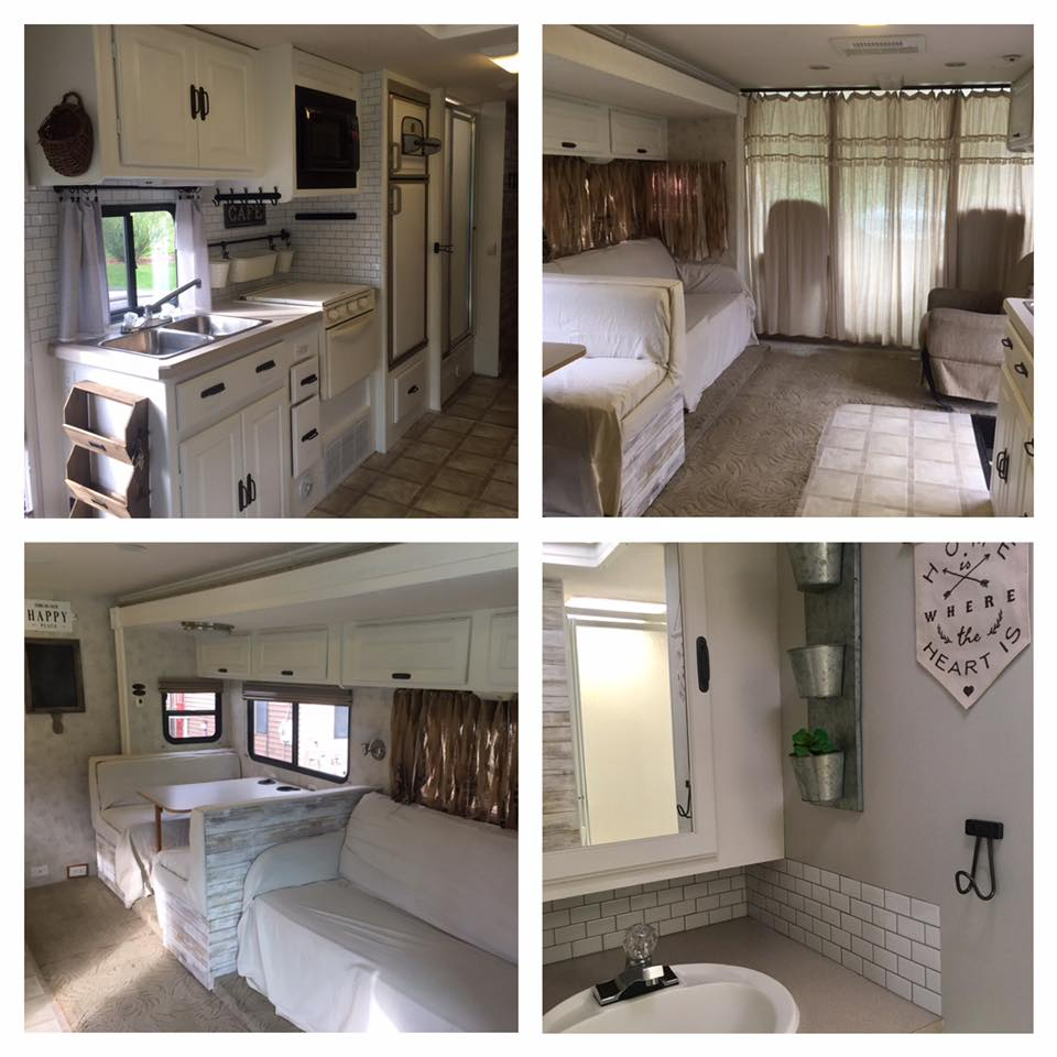 Farmhouse style motorhome makeover by Kelly O'Brien