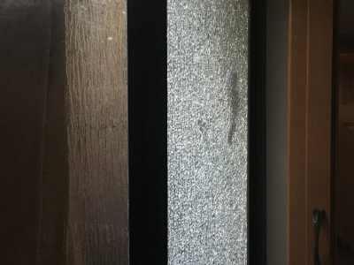 Shattered RV shower glass panel