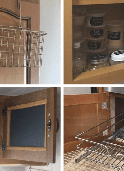 Clever ways to maximize kitchen storage space.  Here are some ways you can maximize the space in a camper or motorhome.