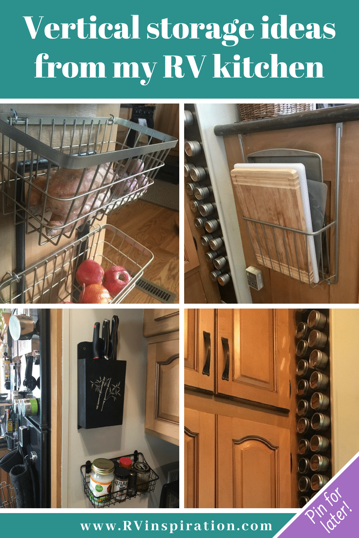 Wall storage ideas for organizing the kitchen of a #c&er #RV # & 25 Storage Tips u0026 Ideas for Organizing Tiny Kitchens   RV Inspiration
