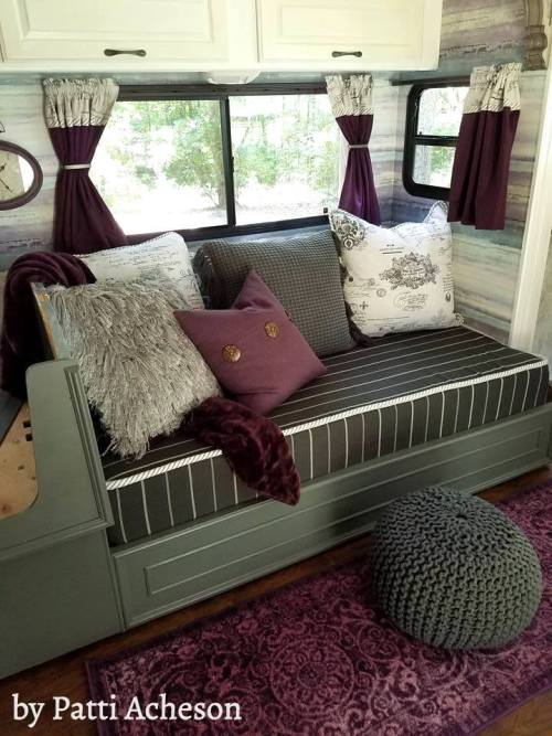 DIY sofa bed in motorhome | by Patti Acheson