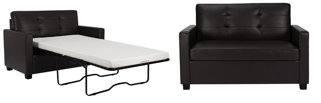 Mainstays Twin Sleeper Sofa with Memory Foam Mattress