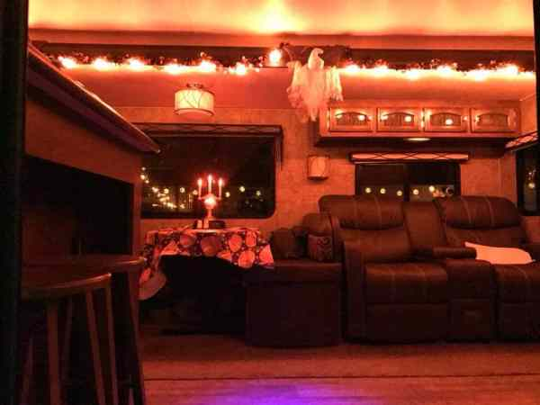 RV decorating accessories for Halloween by Linda Lange Bowling