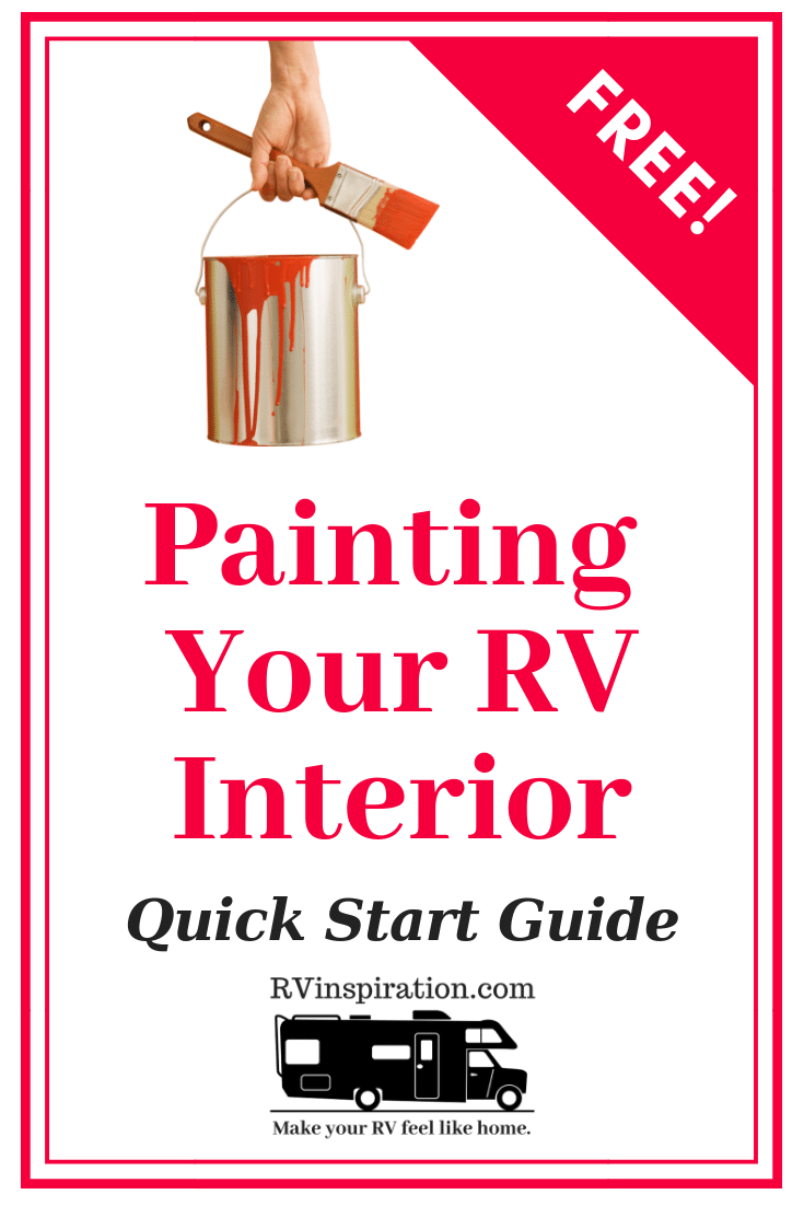 A handy guide with tips, hints, and tricks for how to paint walls and cabinets in your camper, motorhome, or travel trailer.