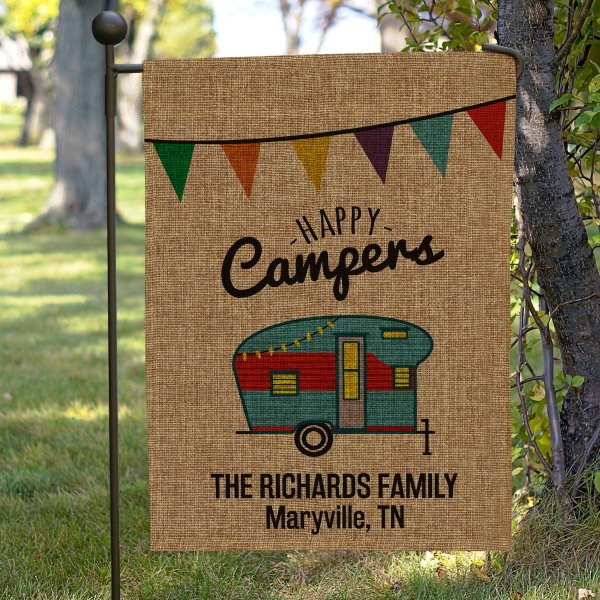 Happy Campers Flag by GiftsForYouNow on Etsy