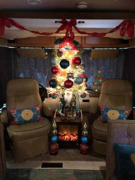 Christmas tree in a motorhome