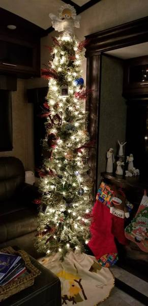 Pencil Christmas tree for RV by Melissa Redden