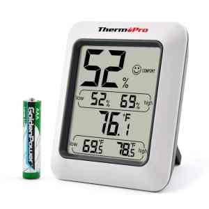 A hygrometer / thermometer is a must have RV accessory.