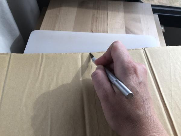 Adhesive foam wall panels (faux wood plank or shiplap) used to cut down heat loss in my RV closet