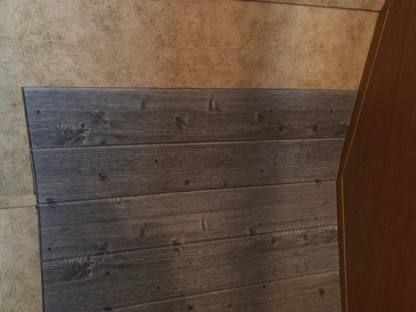 Using faux shiplap foam wall panels for adding insulation to RV closet