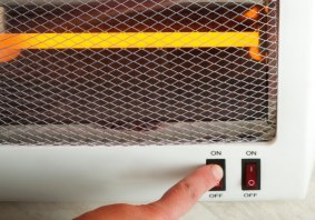 Electric heater used in a camper or motorhome