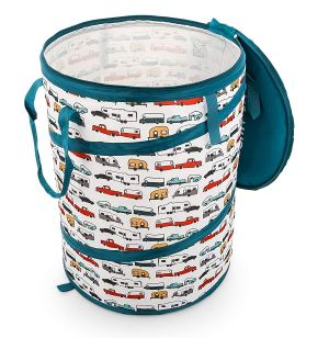 Collapsible recycling bin for RV
