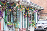A 19th Century cottage adds to the charm of the French Quarter.
