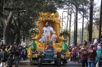 Mardi Gras parades began with the arrival of the King of Carrollton.